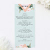 Floral Rose Mint Green Pastel Wedding Invitations