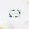 Mint Roses Floral Green Pastel Wedding Name Place Cards Floral Rose Mint Green Pastel Wedding Invitations