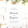 Elegant Cursive Hand Script Welcome Sign