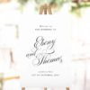 Elegant Script Calligraphy Wedding Welcome Sign