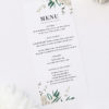 Classic Gum Tree Eucalyptus Leaves Native Wedding Menus Classic Gum Tree Eucalyptus Leaves Native Wedding Invitations