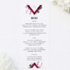 Burgundy Crimson Botanical Greenery Wedding Menus Burgundy Crimson Botanical Greenery Wedding Invitations