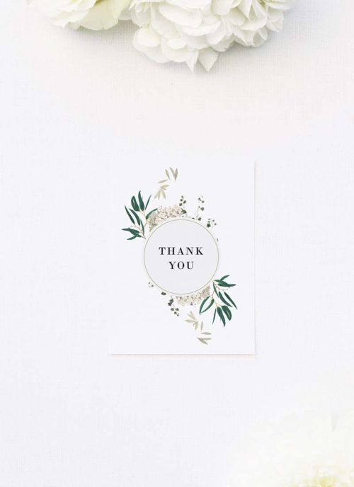 Classic Gum Tree Eucalyptus Leaves Native Wedding Thank You Cards Classic Gum Tree Eucalyptus Leaves Native Wedding Invitations
