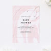 Pale Pink and White Baby Shower Invitations