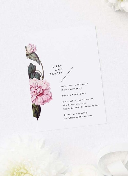 Lush Flower Botanical Vine Wedding Invitations