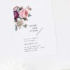 Modern Minimal Floral Rose Wedding Invitations Pink roses Flower Bouquet Modern layout minimal text clean white beautiful