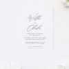 Beautiful Romantic Calligraphy Script Engagement Invitations