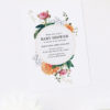 Elegant Floral Dahlia Baby Shower Invitations