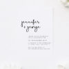Loose Free Natural Hand Writing Engagement Invitations