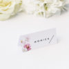 White Pink Daisies Name Place Cards White Pink Daisies Wedding Invitations