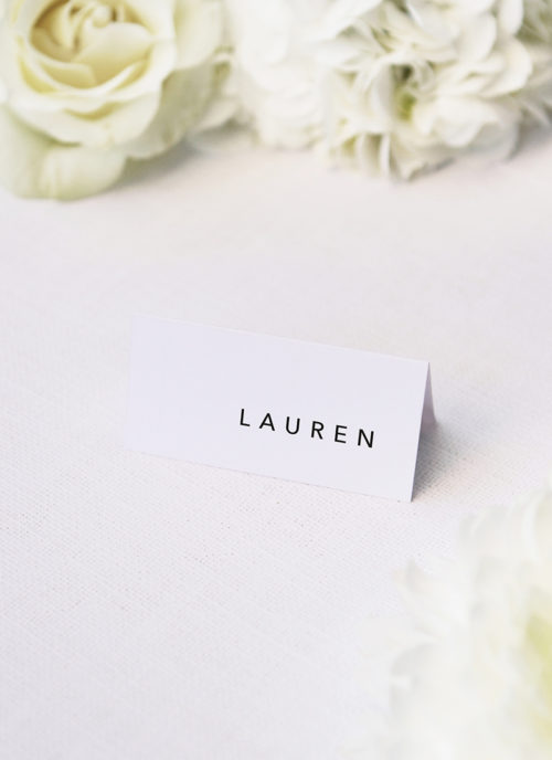 Clean Simple Modern Minimal Name Place Cards