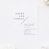 Feature Large Couple Names Classic Engagement Invitations