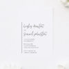 Side Names Modern Line Engagement Invitations