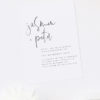 Modern Hand Writing Brush Script Font Engagement Invitations