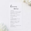 Loose Free Cursive Writing Modern Minimal Wedding Menus Loose Free Cursive Writing Modern Minimal Wedding Invitations