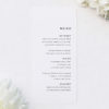 Clean Simple Modern Minimal Wedding Menus Clean Simple Modern Minimal Wedding Invitations