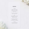 Modern Minimal Cursive Writing Wedding Menus Modern Minimal Cursive Writing Wedding Invitations