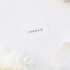 Bold Capital Text Simple Minimal Name Place Cards Bold Capital Text Simple Minimal Wedding Invitations