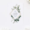 Marble Green Leaves Modern Botanical Engagement Invitations