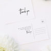 Modern Minimal Contemporary Simple Wedding Thank You Postcards Modern Minimal Contemporary Simple Wedding Invitations