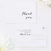Clean Simple Minimal Cursive Script Wedding Thank You Postcards Clean Simple Minimal Cursive Script Wedding Invitations