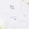 Modern Edgy Fonts Clean Minimal Wedding Thank You Postcards Modern Edgy Fonts Clean Minimal Wedding Invitations