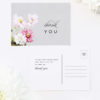 Elegant Grey Floral Wedding Thank You PostcardsElegant Grey Floral Wedding Invitations