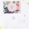 Blush Pink Rose Floral Bouquet Wedding Thank You Postcards Blush Pink Rose Floral Bouquet Wedding Invitations
