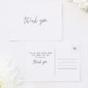 Modern Minimal Sophisticated Hand Cursive Wedding Thank You Postcards Modern Minimal Sophisticated Hand Cursive Wedding Invitations