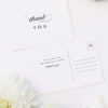 ophisticated Elegant Names Wedding Thank You Postcards Sophisticated Elegant Names Wedding Invitations