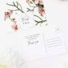 Orchid Flower Wedding Thank You Postcards Orchid Flower Wedding Invitations - Peach Pink Orchid Flowers