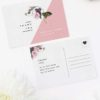 Contemporary Blush Pink Botanical Wedding Thank You Postcards Contemporary Blush Pink Botanical Wedding Invitations