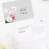 Elegant Grey Floral Wedding Thank You Postcards Elegant Grey Floral Wedding Invitations