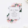 Native Floral Engagement Invitations