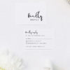 Loose Free Cursive Writing Modern Minimal Wedding Invitations