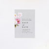 Elegant Grey Floral Save the Dates Elegant Grey Floral Wedding Invitations