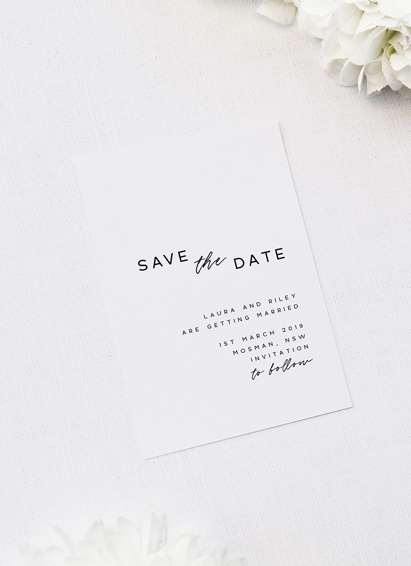 Cursive Hand Script Simple Modern Minimal Save the Dates Cursive Hand Script Simple Modern Minimal Wedding Invitations