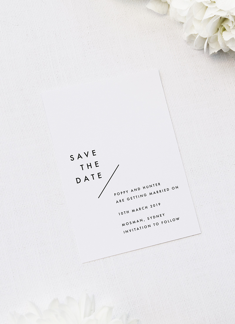 Modern Line Layout Clean Minimal Wedding Invitations