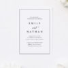 Stunning Classic Border Sophisticated Classy Engagement Invitations