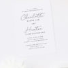Elegant Flowing Cursive Script Engagement Invitations