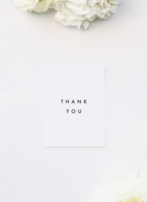 Bold Capital Text Simple Minimal Wedding Thank You Cards Bold Capital Text Simple Minimal Wedding Invitations