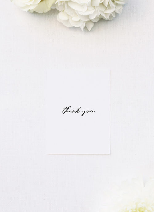 Modern Minimal Cursive Hand Brush Script Wedding Thank You Cards Modern Minimal Cursive Hand Brush Script Wedding Invitations