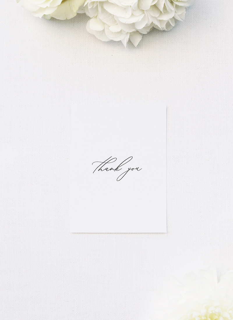 Modern Minimal Calligraphy Wedding Thank You Cards Modern Minimal Calligraphy Wedding Invitations