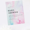 Pastel Watercolours Baby Shower Invitations