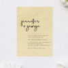 Modern Feature Handwriting Couples Names Wooden Wedding Invitations