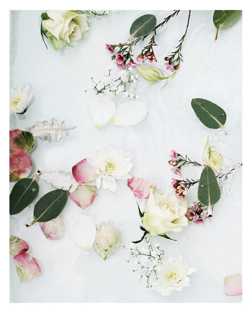 Abstract Flower Wall Art -Floral Art Print with Flowers, Roses, Petals and Greenery