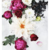 Beautiful Floral Wall Art - Floral Art Print with Red Roses Pink Peonies and White Dahlia Flowers