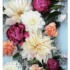 Colourful Floral Photo Wall Art - Pink Orange Yellow Colourful Floral Photo Art Print - Dahlia and Peony Flowers