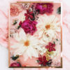 Pink Burgundy Floral Photographic Print - Pink Burgundy Floral Photographic Wall Art Peony Flowers