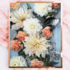 Faded Blue Orange Floral Photo Print - Modern Floral Photographic Wall Art - Faded Yellow Orange and Blue